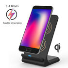 Qi Wireless Charger Fast Charging Pad Stand Dock Samsung Galaxy S8+ iPhone X 8