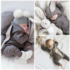 US Stock Newborn Infant Baby Boy Girls Clothes Hoodie Sweater Outfits Set Suit