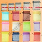 Organza Bags - Wedding Favours | Jewellery Pouch | Gift Bag 25/50/100 16 colours
