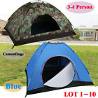 Camping Waterproof Outdoor 3-4Person 4Season Folding Tent Hiking Camo/Blue LOT Y