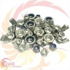 M3 M4 M5 M6 M8 M10 M12 M16 Hex Full Nuts - 'T Type' Nyloc - Wing - A2 Stainless