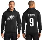 New Philadelphia Eagles Nick Foles 9 Jersey Logo Hoodie Mens Hooded Sweatshirt