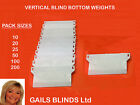 VERTICAL BLINDS BOTTOM WEIGHTS FOR 3.5