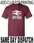 football t shirt away days leave note with order for club required for printing.