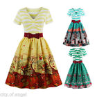 50s attire for women - US Womens Vintage Style 50's Retro Floral Rockabilly Swing Party Evening Dress