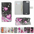 PU Leather Vintage Pattern Butterfly US UK Flag Wallet Case Cover For iPhone X 7