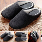 2019 Mens Indoor Floor Soft Cozy Warm Non-slip Slippers Cotton House Home Shoes