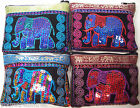 BEAUTIFUL THAI ELEPHANT HAND PURSE w SILK EMBROIDERY/SEQUINS HAND MADE BRAND-NEW