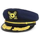 Cotton Yacht Captain Costume Sailor Emblem Hat With Oak Leaf and Rope - FREESHIP