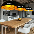 LED ceiling hanging lamp RGB remote control living room dimmer lamp black gold
