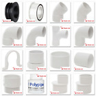 Polypipe 50mm Solvent Weld Waste Pipe Fittings in White