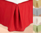 KING REGULAR Microfiber Dust Ruffle Bed Skirt Bedding Bed Dressing Bedroom  image