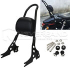 Passenger Backrest Pad Sissy Bar Cushion For Harley Iron Sportster XL1200 883 $89.99 USD on eBay