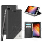 LG K8 2018/Aristo 2/Tribute Dynasty Flip Case-PU Leather Wallet Card Cover+Strap