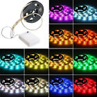5050 RGB Battery Operated LED Light Strip Waterproof Mini Controller Lights 4.5V