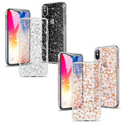 iPhone X Case, ESR 3D Sparkle Hard Case - Dual Layer - Silver - Rose Gold  iphone x cases 3 layers 2828421053094040 1