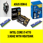 L@@K ASUS MOTHERBOARD + i7 4770 + FAN/HEATSINK CHOOSE YOUR MEMORY