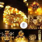 4M 40LEDs Copper Wire Fairy String Lights Warm White Battery Powered Party OY