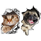 Cat Dog Toilet Seat Cover Lid Sticker Bathroom Wall Art Decoration Decal Natural
