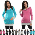 Purpless Maternity 2in1 Pregnancy and Nursing Hoodie Hooded Sweatshirt Top B9056