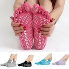Women 5 Toes Yoga Gym Sport Exercise Non Slip Massage Fitness Warm Socks Natural