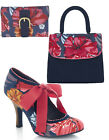 Ruby Shoo Willow Fabric Bootie Pumps 3-9 & Matching Santiago Bag & Garda Purse