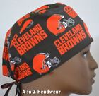 Cleveland Browns NFL Football Team Collection Unisex Surgical Scrub Hat Cap