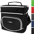 Premium Insulated Dual Compartment Lunch Bag With Shoulder Strap by OPUX