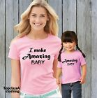 Make Amazing Baby Mum Son Mom Mummy Daughter Family Matching Pjs T shirts Outfit