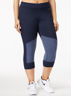 Calvin Klein Performance Plus Size Colorblocked Capri Leggings Indigo Heather