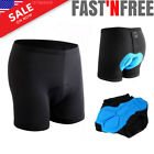 Mens 3D Padded Cycling Shorts Bicycle Bike Underwear Anti-Slip Sweat Resistant