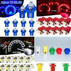 10pcs T5 B8.5d Car Led 5050 Speedo Dashboard Auto Dash Light Bulb 12v Durable