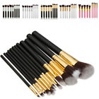 10Pcs Professional Makeup Set Kits Brushes Makeup Cosmetics