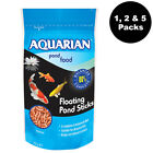Aquarian Floating Pond Food Sticks 210g Various Pack Sizes Complete Fish Food