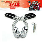 "32mm 1.25"" Long Highway  Foot Pegs Clamps Engine Guard for Harley Chrome Suzuki $62.99 USD on eBay"