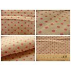 tissu coupon / par 50cm : DOTS chambray rouge