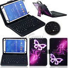 "For Samsung Galaxy Tab A/A6/E/S2 7"" 8"" 10"" Tablet PU Leather Case Keyboard Cover"