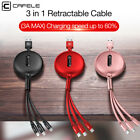 Baseus 3 in1 Micro & Type-C & Lightning 1.2M USB Data Sync Cable Lead for Phones