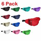 Внешний вид - DALIX Fanny Pack Red Black Blue Navy Royal Money Pouch Running Pack (6 Pack)