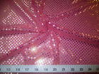 Fabric Stretch Glitter Mesh Sequin Dots Magenta Pink and Gold Sheer Sparkle L50