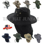 Внешний вид - Boonie Hat Neck Flap Fishing Hiking Outdoor Summer Cap Military Snap Wide Brim