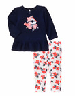 NWT Gymboree Blooms and Boats Bird Flower Outfit 2PC Baby Girl 3-6 or 6-12 month