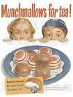 RETRO METAL PLAQUE Munchmallows for Tea!  sign/ad