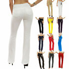 New Colored Bootcut Regular Leg Jeggings Stretch Moleton Pants Size XS-XL JWM201