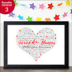 Pearl Wedding Anniversary - 30th Anniversary Personalised Word Art Print Gift
