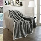 "Super Soft Luxurious Plush Sherpa Throw Blanket Light 6 Solid Colors 50"" x 60"" image"