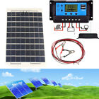 10W Solar Panel + 10/20/30A 12v 24v LCD Battery Charger Controller + 4m cable