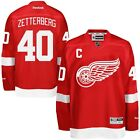 40 Henrik Zetterberg Detroit RED WINGS RBK NHL Premier Jersey 100 Original