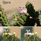 5Pcs Plant Ornament Bonsai Figurines Snails Micro Landscape Deco Durable