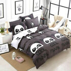 Cool Panda Quilt Duvet Doona Cover Set Single Queen King Size Animal Bed Linen
